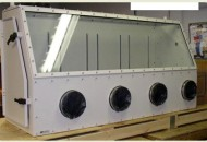 Dry Glove Box for Harsh Chemicals Tempered Glass and Aluminum Glove Port Panel Options