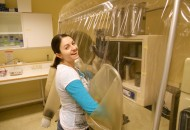 University of Vermont Anaerobic Chamber for microbial rumen studies