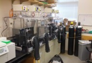 Dana Farber Dual Hypoxic Glove Boxes connected by a central airlock