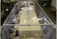 Two Sided Hypoxic Glove Box custom sized to fit four incubators