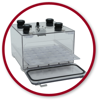 Hypoxic chamber for cell culture by Coy Laboratory Products