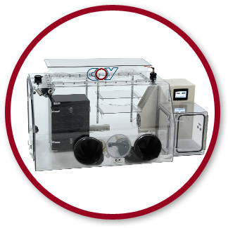 Gloveless polymer anaerobic chamber by Coy Lab Products